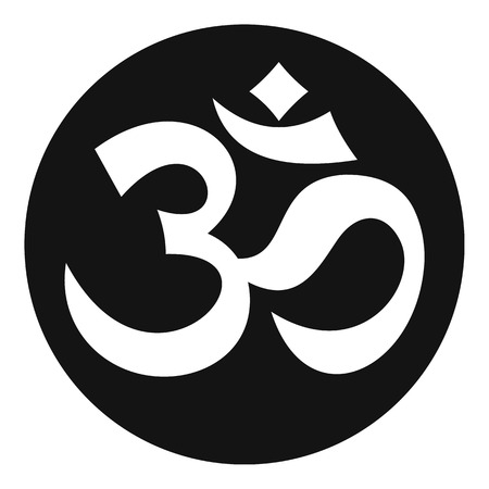 Symbol Aum icon, simple style