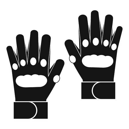 Pair of paintball gloves icon, simple style