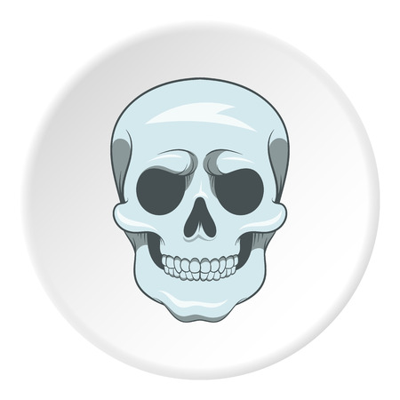 Skull icon, cartoon style Stock Photo - 106553406