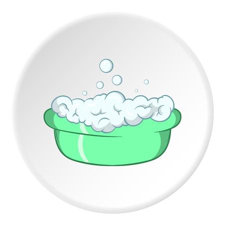 Bath for baby icon, cartoon style