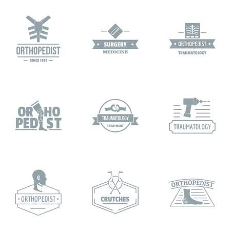 Ordonnance Logo gesetzt. Einfacher Satz von 9 Ordonnanzvektorlogo für Web lokalisiert auf weißem Hintergrund