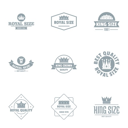 Really luxurious logo set. Simple set of 9 really luxurious vector logo for web isolated on white background