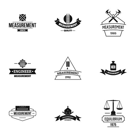 Reasoned decision logo set. Simple set of 9 reasoned decision vector logo for web isolated on white background