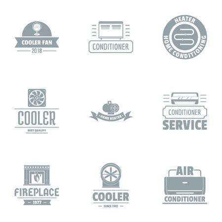 Coolant logo set. Simple set of 9 coolant vector logo for web isolated on white background