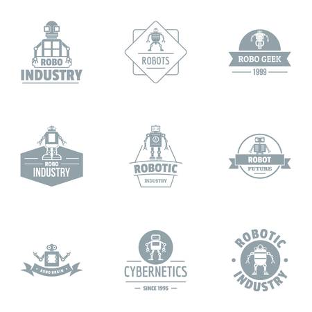 Metal industry logo set. Simple set of 9 metal industry vector logo for web isolated on white background