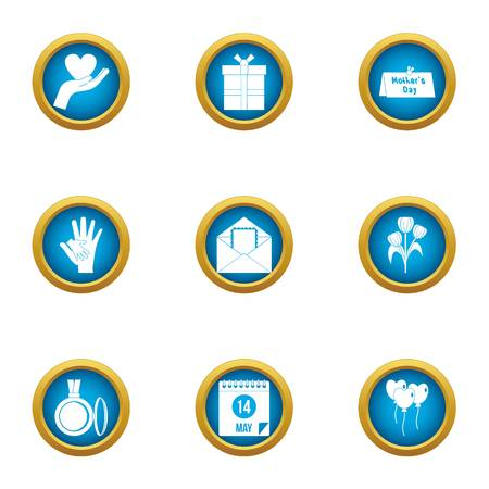 Care icons set. Flat set of 9 care vector icons for web isolated on white background