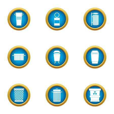 Reset icons set. Flat set of 9 reset vector icons for web isolated on white background