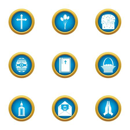 Supplication icons set. Flat set of 9 supplication vector icons for web isolated on white background