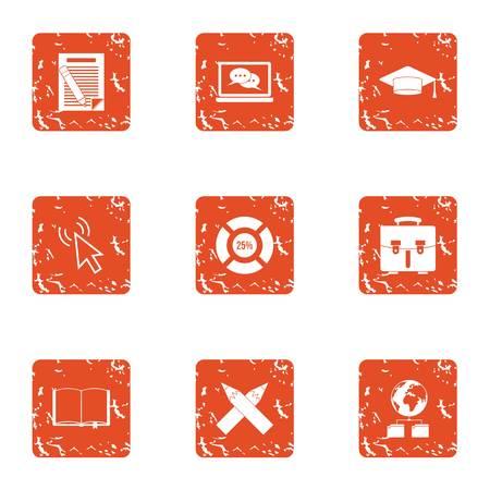 Put money icons set. Grunge set of 9 put money vector icons for web isolated on white background