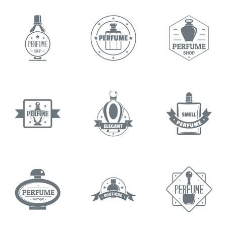 Conjunto de logotipo de olor. Conjunto simple de 9 logotipo de vector de olor para web aislado sobre fondo blanco Logos