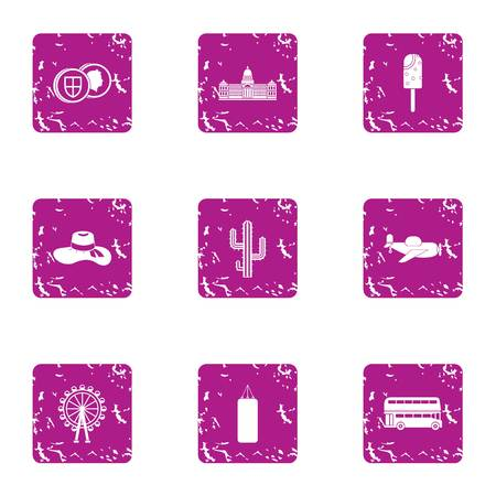 Traverse icons set. Grunge set of 9 traverse vector icons for web isolated on white background