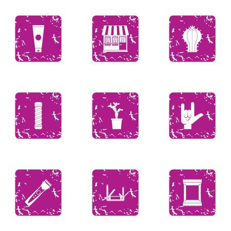 Retribution icons set. Grunge set of 9 retribution vector icons for web isolated on white background