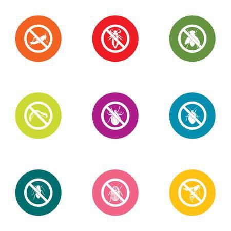 Prohibition icons set. Flat set of 9 prohibition vector icons for web isolated on white background Illustration