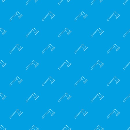 Axe pattern vector seamless blue repeat for any use Illustration