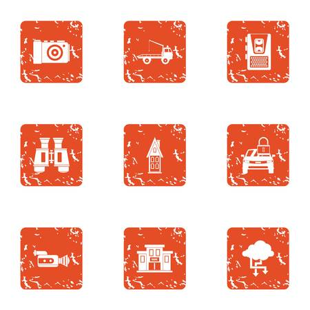 Sustain icons set. Grunge set of 9 sustain vector icons for web isolated on white background