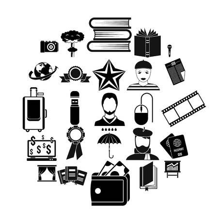Officeman icons set. Simple set of 25 officeman vector icons for web isolated on white background