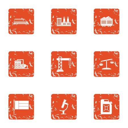 Survey icons set. Grunge set of 9 survey vector icons for web isolated on white background