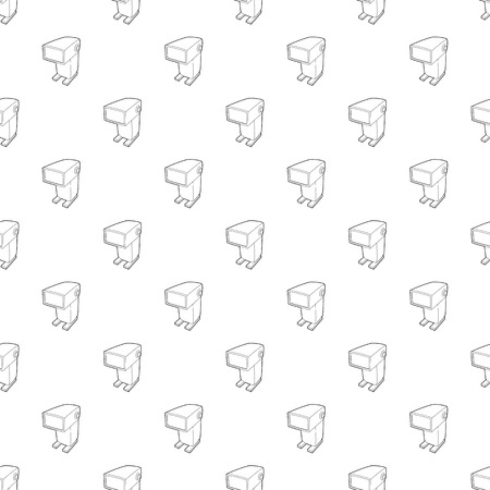 External flash camera icon in outline style isolated on white background. Photography symbol Ilustração