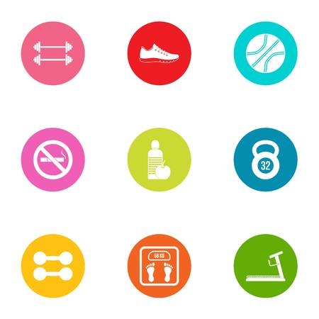 Corporeal icons set. Flat set of 9 corporeal vector icons for web isolated on white background Stock Illustratie