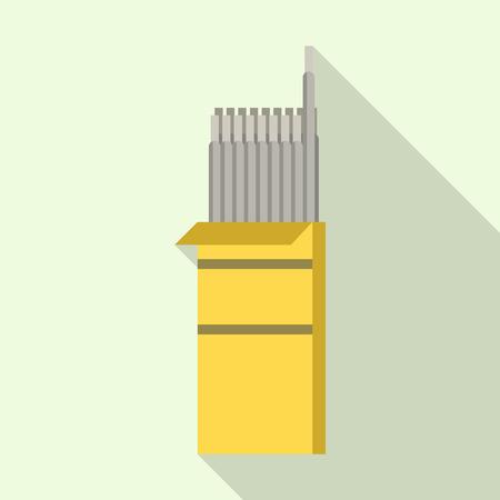 Paquete de soldador de icono de palos, estilo plano Ilustración de vector