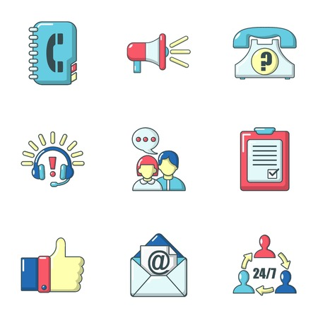 Dialer icons set. Cartoon set of 9 dialer vector icons for web isolated on white background