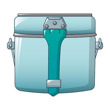 Olla de campamento para el icono de comida. Caricatura de olla de campamento para alimentos icono vectoriales para diseño web aislado sobre fondo blanco. Ilustración de vector