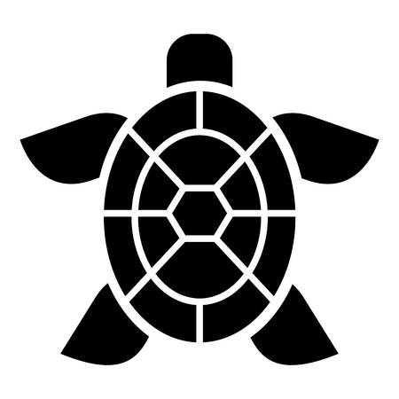 Cute turtle icon, simple style