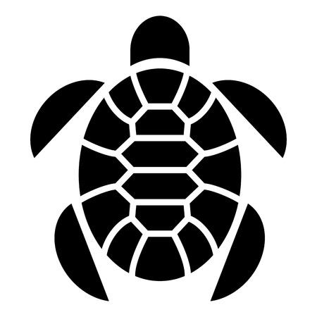 Turtle marine animal icon, simple style