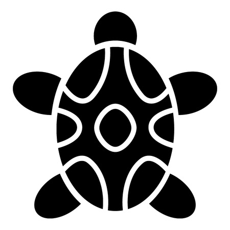 Tribal turtle icon. Simple illustration of tribal turtle vector icon for web design isolated on white background