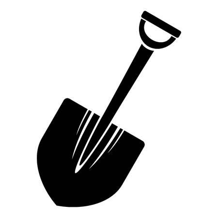 Big shovel icon. Simple illustration of big shovel vector icon for web design isolated on white background