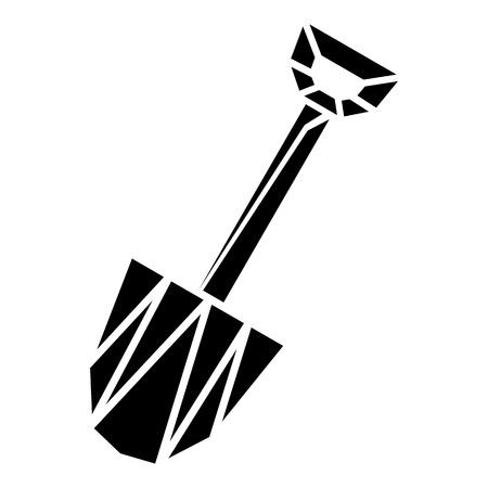 Diamond shovel icon, simple style
