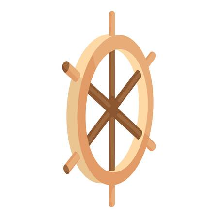 Wooden ship wheel icon, cartoon style Stock Photo - 106779274