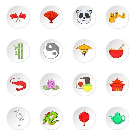 China icons, cartoon style Reklamní fotografie - 106779956