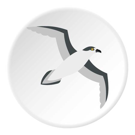 Seagull icon, flat style Stock Photo