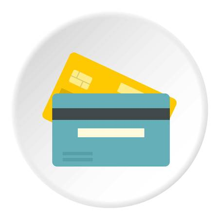 Credit card icon, flat style