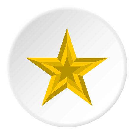 Five pointed star icon, flat style
