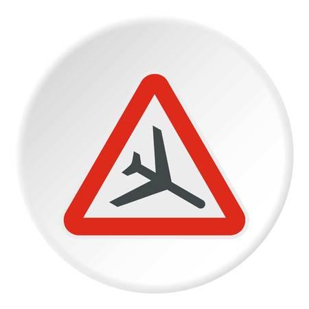 Sign airport icon, flat style Фото со стока