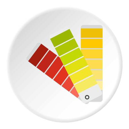 Paper color palette icon, flat style Reklamní fotografie