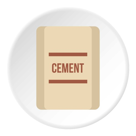 Pouch of cement icon, flat style