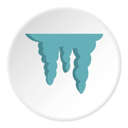 Icicles icon, flat style