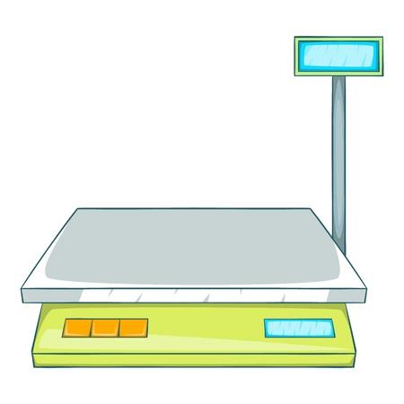 Bench scales icon, cartoon style Stock Photo