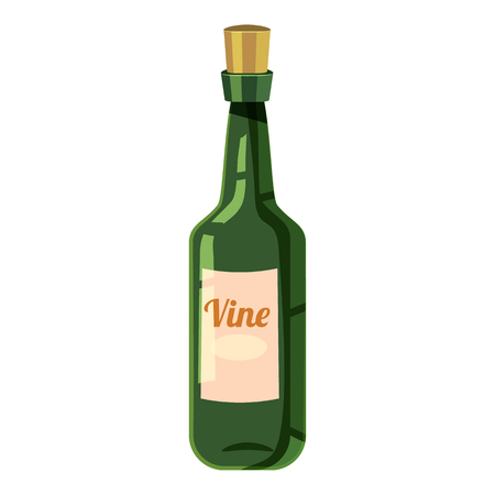Bottle of wine icon. Cartoon illustration of bottle of wine icon for web