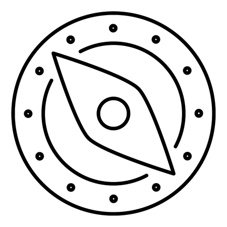 Tourist compass icon. Outline illustration of compass icon for web