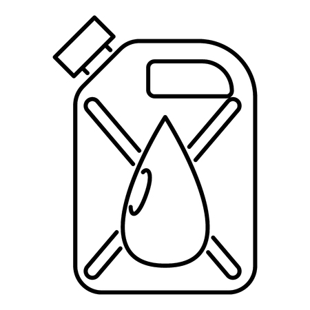 Jerrycan with drop icon. Outline illustration of jerrycan icon for web 版權商用圖片