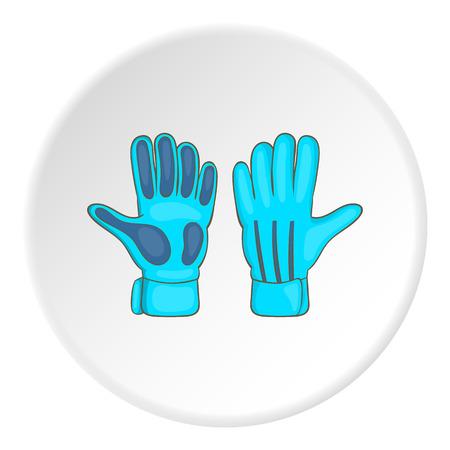 Goalkeeper gloves icon. Cartoon illustration of goalkeeper gloves icon for web