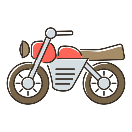 Motorcycle icon. Flat illustration of motorcycle icon for web Stock Photo