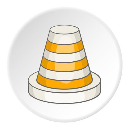 Traffic cone icon. Cartoon illustration of traffic cone icon for web Stockfoto