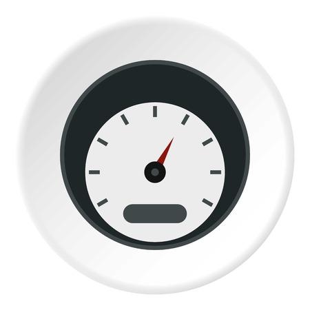 Small speedometer icon. Flat illustration of small speedometer icon for web Stockfoto