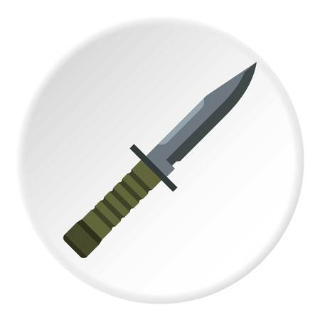 Military combat knife icon. Flat illustration of knife icon for web design