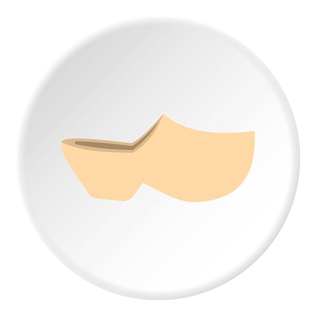 Clogs icon. Flat illustration of clogs icon for web